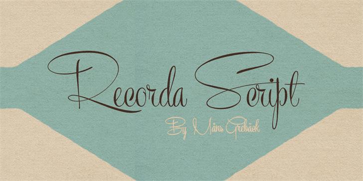 Recorda Script Personal Use Onl font by Måns Grebäck