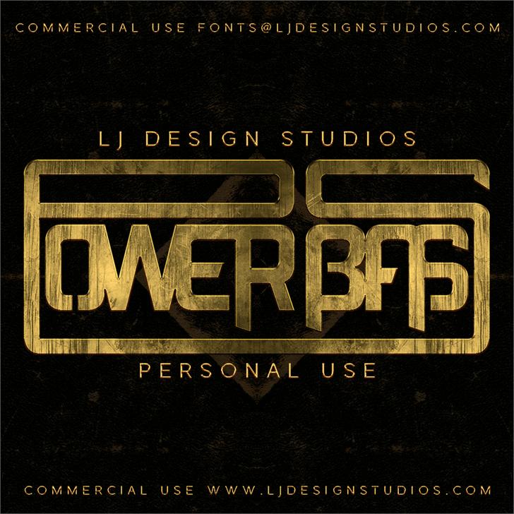 Power Bass font by LJ Design Studios