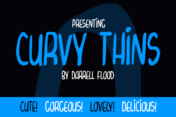 Curvy Thins font by Darrell Flood