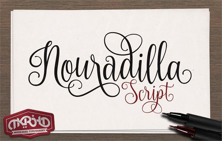 Nouradilla font by Mikrojihad Font