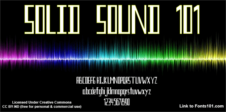 Solid Sound 101 font by Fonts101