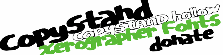CopyStand font by Xerographer Fonts