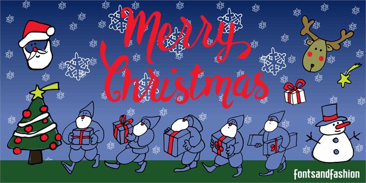 Merry Christmas font by Fontsandfashion