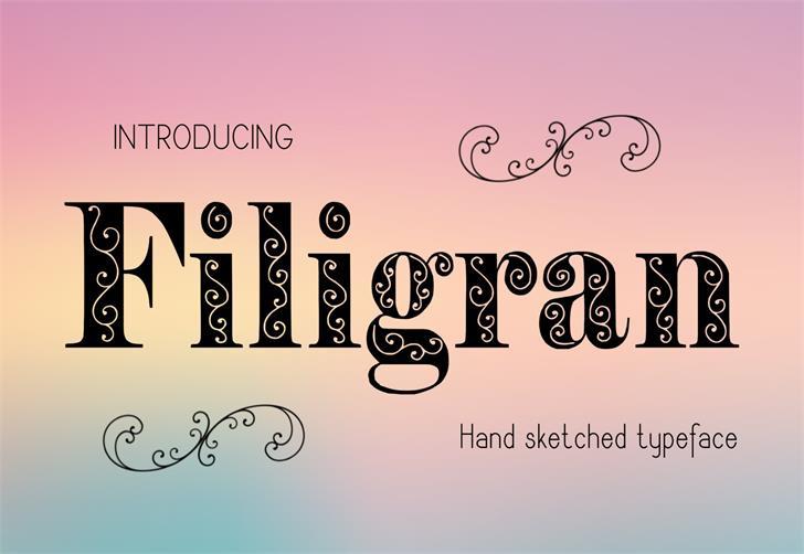Filigran font by Eva Barabasne Olasz