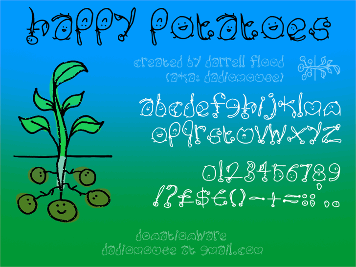 Happy Potatoes font by Darrell Flood