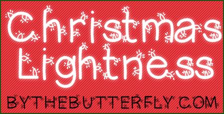 ChristmasLigtness font by ByTheButterfly