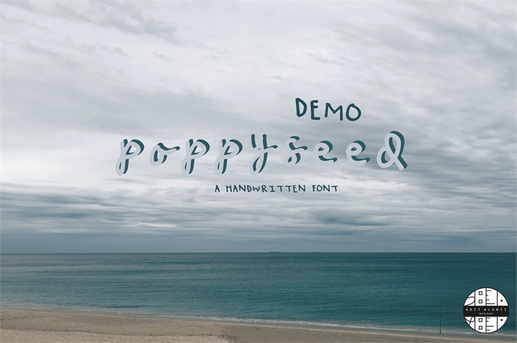poppy seed DEMO font by kaitalanisdesigns