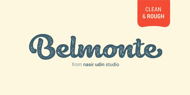 Belmonte font by Nasir Udin