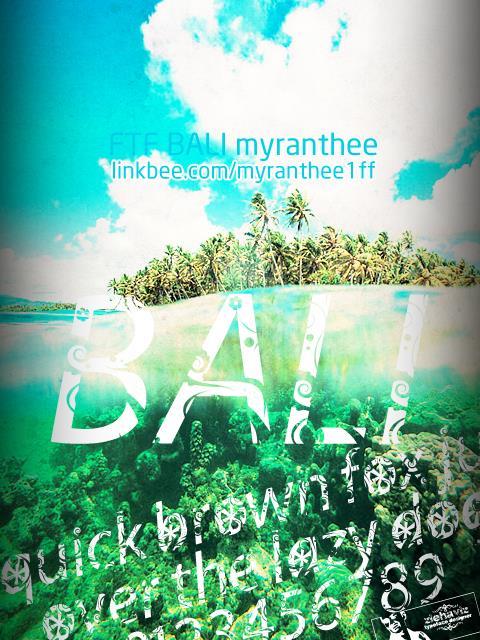 FTF Bali Myranthee FREE font by Fizzetica TypeFoundry Indonesia