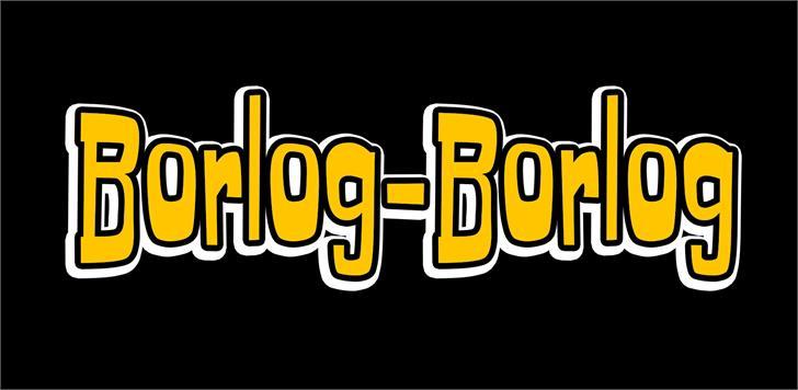 Borlog-Borlog font by VVB DESIGNS