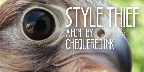 Style Thief font by Chequered Ink