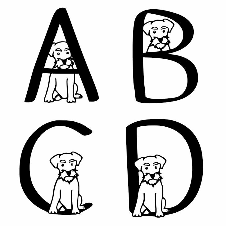 Ks Schnauzer Hide N Seek font by Pretty Little Line Designs