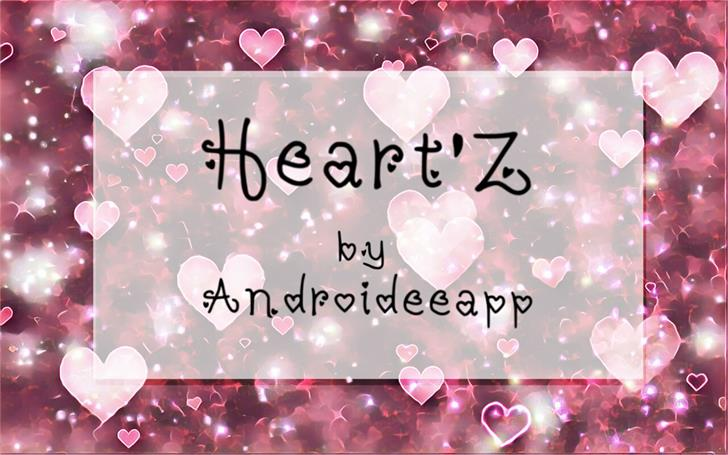 Heartz font by Androideeapp