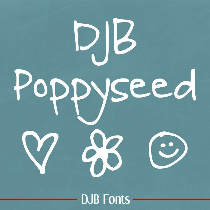 DJB Poppyseed font by Darcy Baldwin Fonts