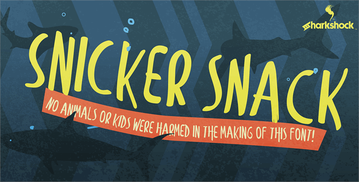 Snicker Snack font by sharkshock