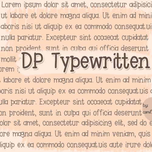 DPTypewritten font by doodledpop-fonts