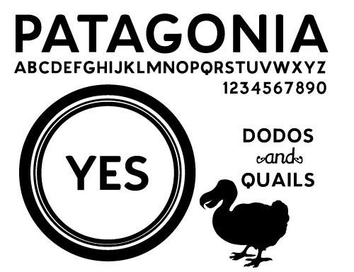 Patagonia font by Kingdom of Awesome