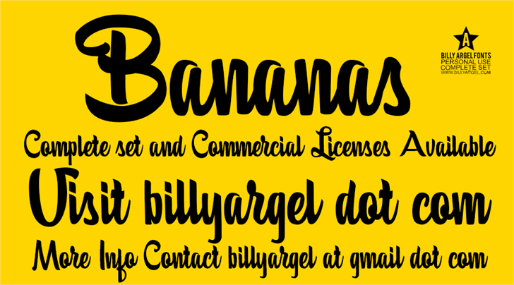 Bananas Personal Use font by Billy Argel