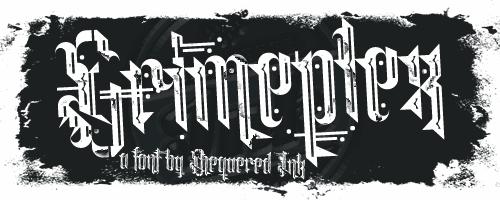 Grimeplex font by Chequered Ink