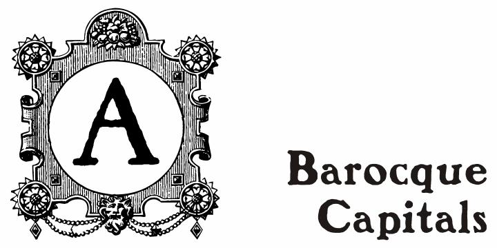 Barocque Capitals font by Intellecta Design