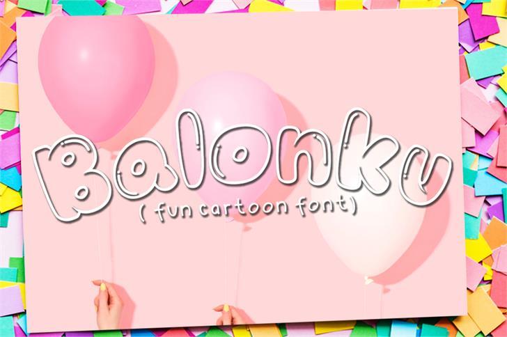 Balonku font by azkarizki