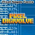 Pixel Digivolve font by Pixel Sagas