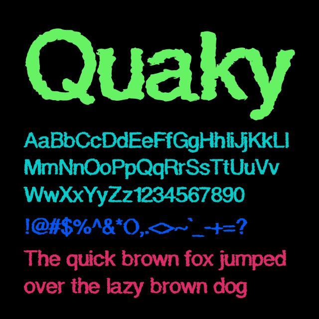 Quaky font by Shara Weber