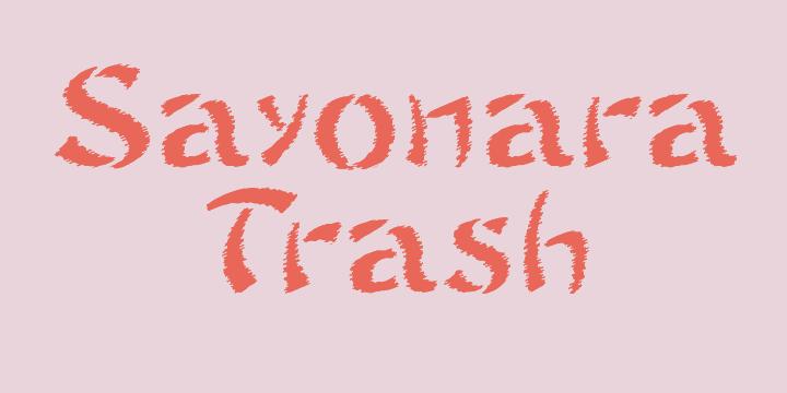 Sayonara Trash Free font by Intellecta Design
