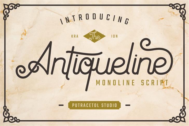 Antiqueline FreeVersion font by PutraCetol Studio