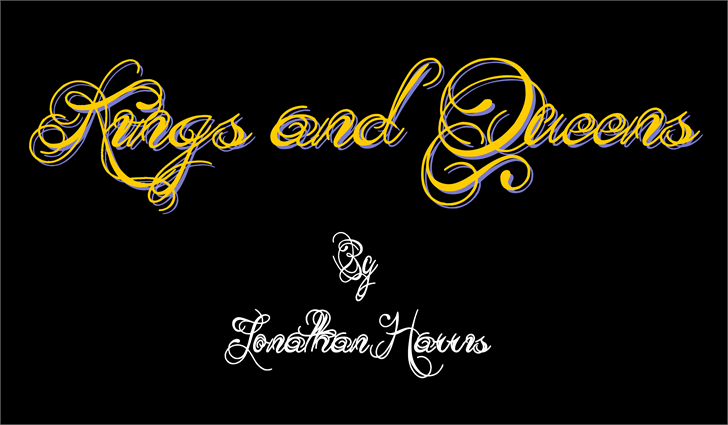 Kings and Queens font by Jonathan S. Harris