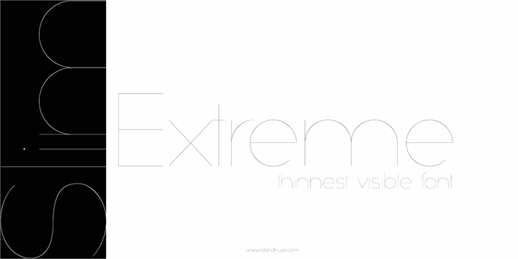 Slim Extreme font by Roland Huse Design