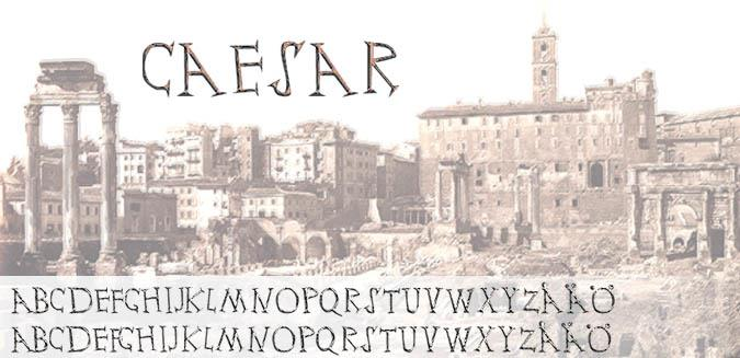 Ceasar font by Fontomen