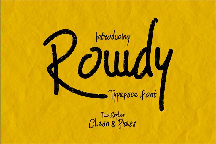 Rowdy font by madeDeduk