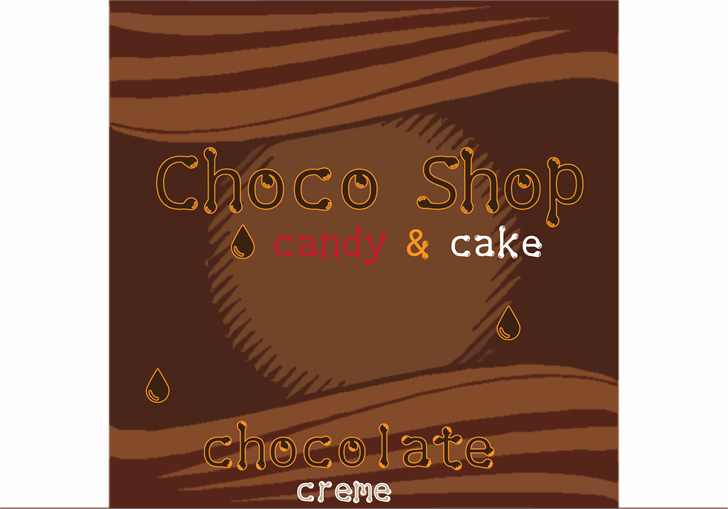 Choco Shop font by Cé - al