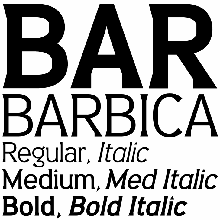 Barbica font by K-Type