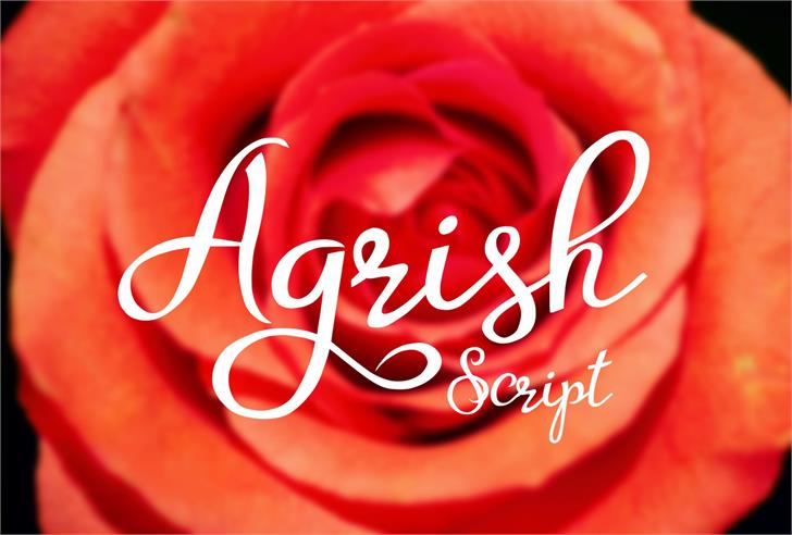 Agrish font by Eva Barabasne Olasz