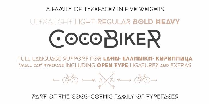 CocoBikeR font by Zetafonts