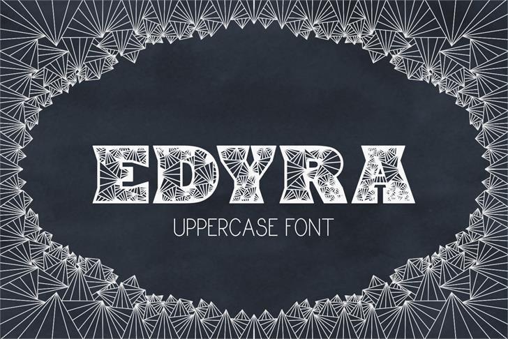 Edyra font by Eva Barabasne Olasz