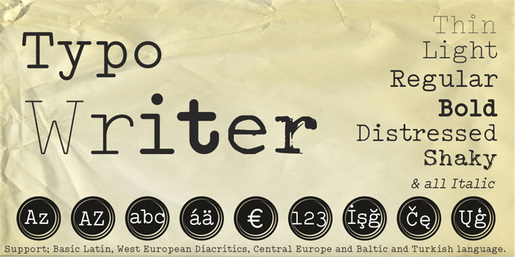Typo Writer Demo font by studiotypo