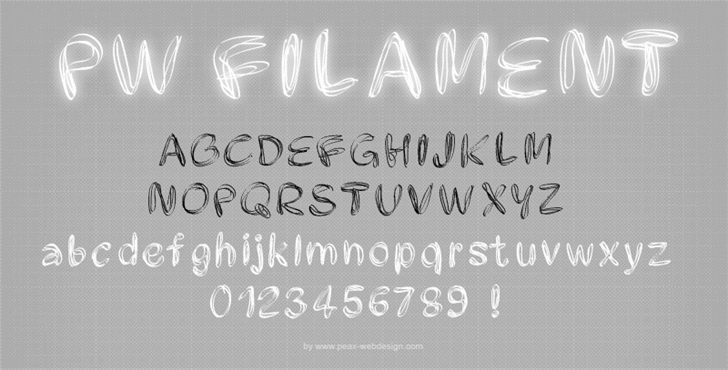 PWFilament font by Peax Webdesign