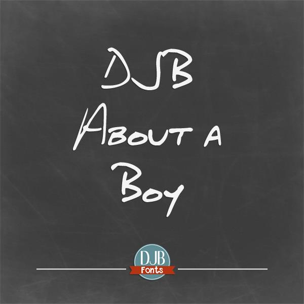 DJB About a Boy font by Darcy Baldwin Fonts