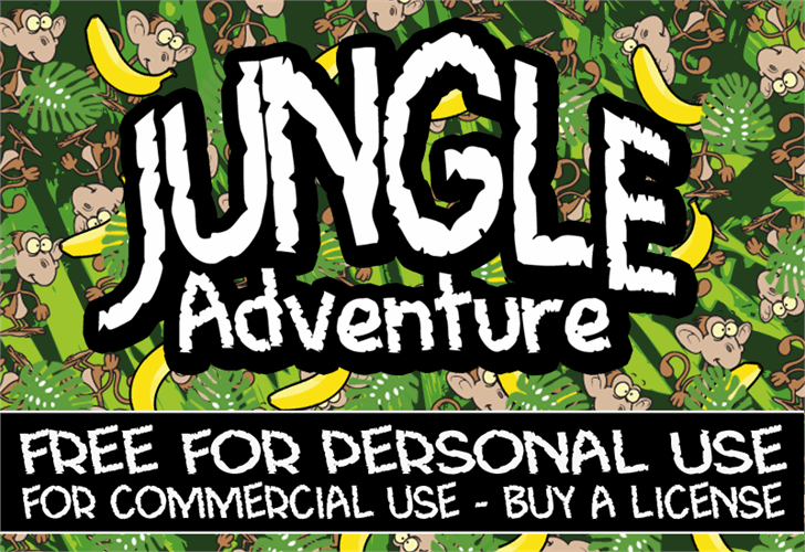 CF Jungle Adventure font by CloutierFontes