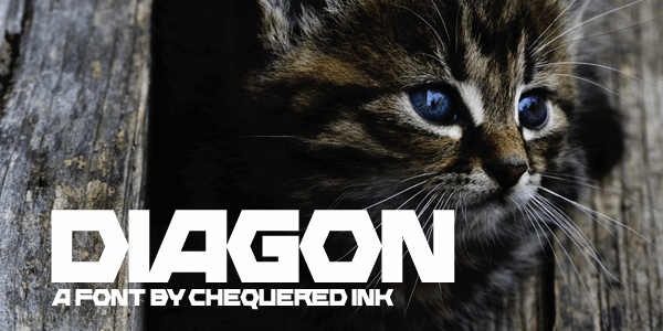 Diagon font by Chequered Ink