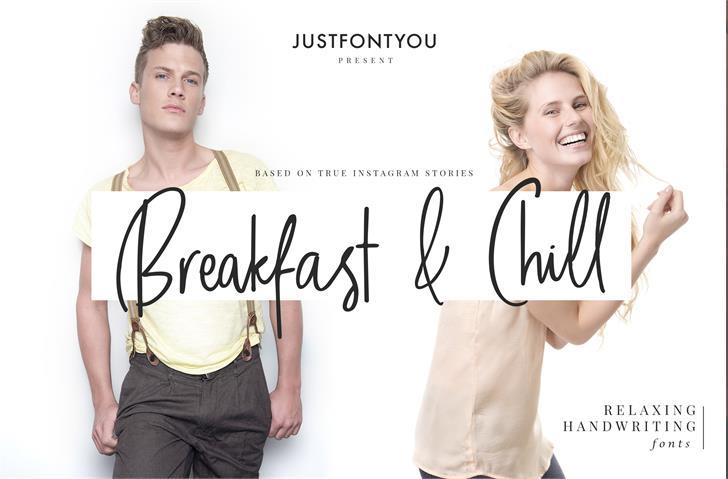 Breakfast And Chill DEMO font by irwanwismoyo