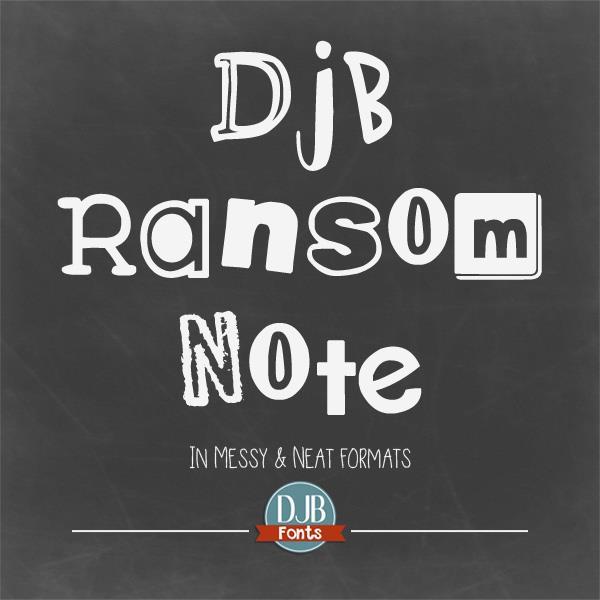 DJB Ransom Note font by Darcy Baldwin Fonts