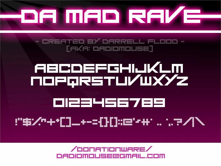 Da Mad Rave font by Darrell Flood