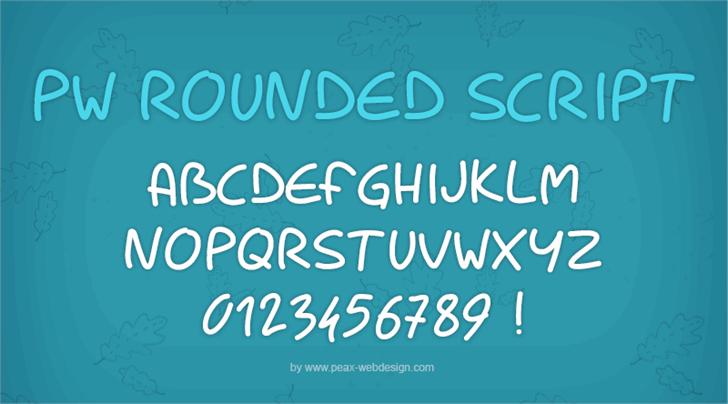 PWRoundedScript font by Peax Webdesign