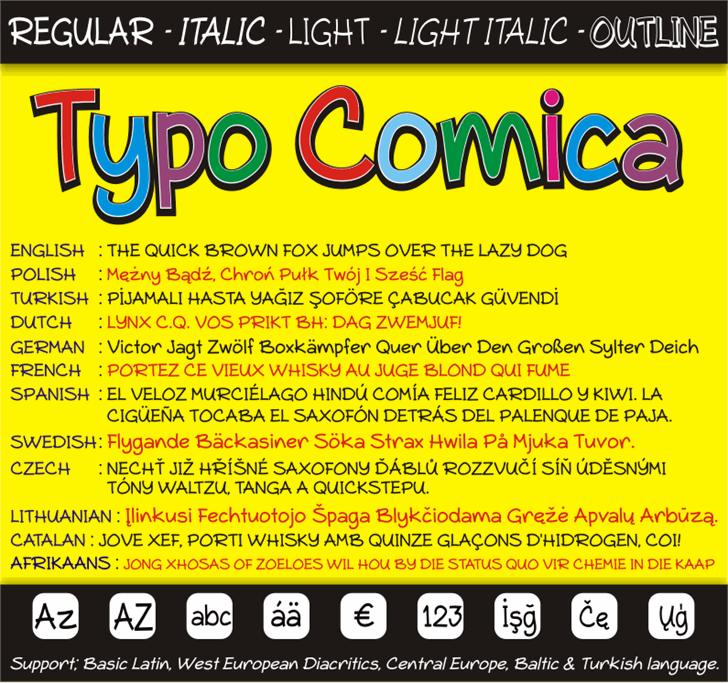 Typo Comica font by studiotypo