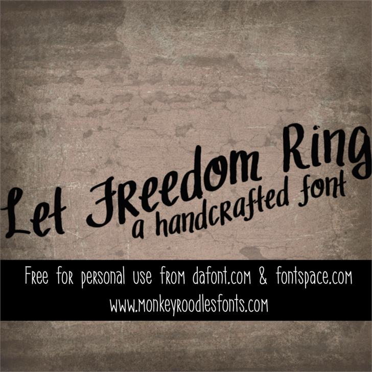 MRF Let Freedom Ring font by Sabrina Schleiger