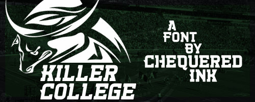 Killer College font by Chequered Ink